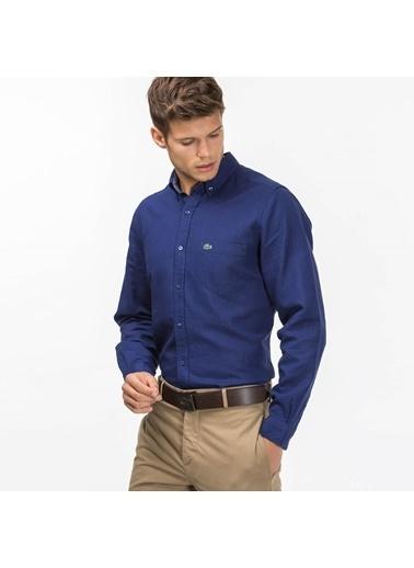Oxford Yaka Uzun Kollu Gömlek-Lacoste